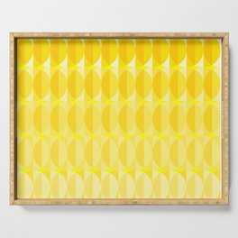 Leaves in the sunlight - a pattern in yellow Serving Tray