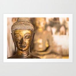 Wat Si Saket Buddhas X, Vientiane, Laos Art Print