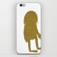 sasquatch iPhone & iPod Skins featuring Sasquatch man by Lori Joy Smith