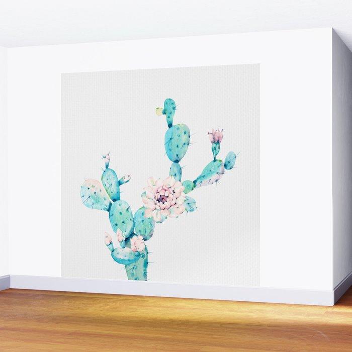 Desert Cactus Rose Wall Mural