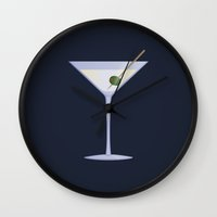 martini Wall Clocks featuring Martini by Rob Barrett — Nice Hot Cuppa
