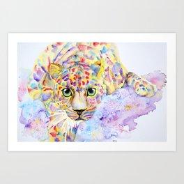 Color Splash Leopard Art Print
