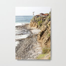 Cliffs Along the Palos Verdes Hills Metal Print