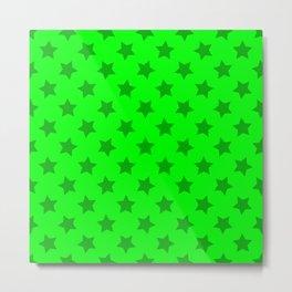 lime green stars, stars in yer eyez Metal Print