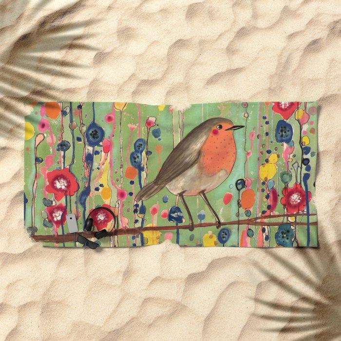 je ne suis pas qu'un oiseau revisited Beach Towel