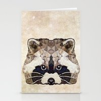 racoon Stationery Cards featuring Racoon by Ancello