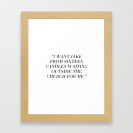 Sixteen Candles Framed Art Print