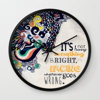 motivational Wall Clocks featuring Quote - Motivational  by Katie Melrose