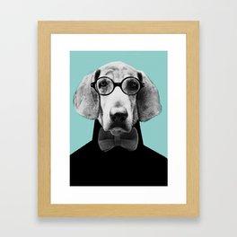 Mr Italian Bloodhound the Hipster Framed Art Print