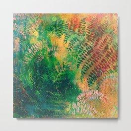Ferns in color Metal Print
