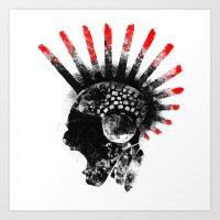 cyberpunk Art Prints featuring cyberpunk by rope
