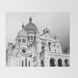French Sacre Coeur church in Paris Throw Blanket