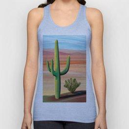 Saguaro Cactus in Desert Unisex Tank Top