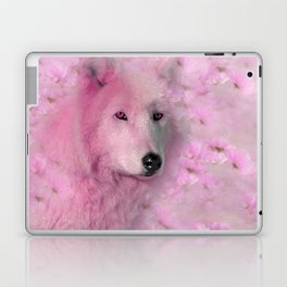 PINK WOLF FLOWER SPARKLE Laptop & iPad Skin
