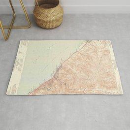 Laguna Beach, CA from 1949 Vintage Map - High Quality Rug