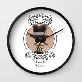 Dia de los Muertos Novio Wall Clock