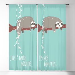 Sloth card - just 5 more minutes Blackout Curtain
