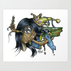 - Black Music Queen - Mr.Klevra Art Print