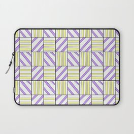 symetric tartan and gingham 15 -vichy, gingham,strip,square,geometric, sober,tartan Laptop Sleeve