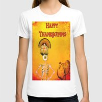 thanksgiving T-shirts featuring Happy thanksgiving  monsieur Bone by Ganech joe