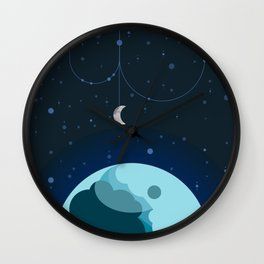 Moon and Planet Wall Clock