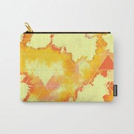 Burned Geometrics Carry-All Pouch