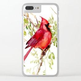 Northern Cardinal, cardinal bird lover gift Clear iPhone Case