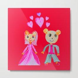 Simple Love | Kids Painting Metal Print