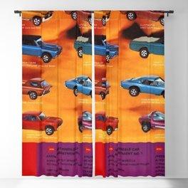 1969 World of Hot Wheels Redline Vintage Poster Blackout Curtain