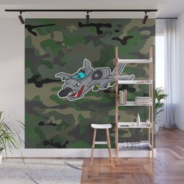 Flying Warthog Wall Mural