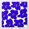 Blue Retro Flowers by pivivikstrm