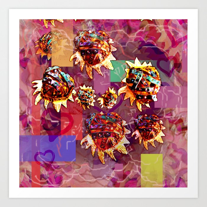 Milagros Heart Falling Art Print