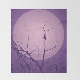 Grasshopper Moon Throw Blanket