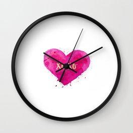 XOXO,Engagement Gift,Anniversary Print,Women Gift,Gift For Her,Dorm Decor,XOXO Wall Decor,Bathroom Wall Clock