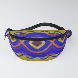Ethnic African Knitted style design Fanny Pack