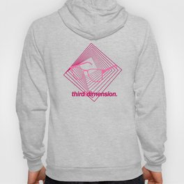 Third Dimension - Neon Laser Pink Hoody