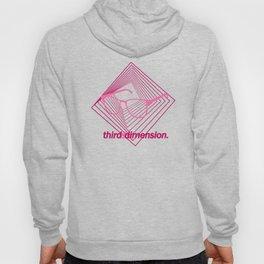 Third Dimension - Neon Laser Pink Hoody