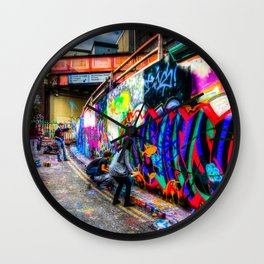 Leake Street Graffiti Artists Wall Clock