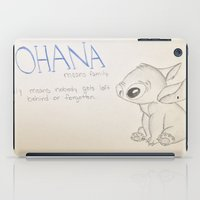 lilo and stitch iPad Cases featuring Lilo and Stitch by Elyse Notarianni