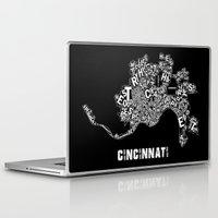 cincinnati Laptop & iPad Skins featuring Cincinnati by Ricky Riccardo