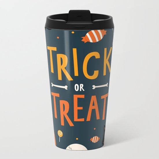 Trick or Treat Metal Travel Mug