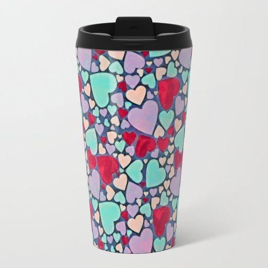 Sweet hearts mosaic pattern Travel Mug