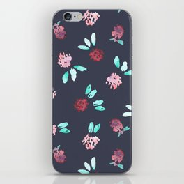 Clover Flowers Pattern on Grey iPhone Skin