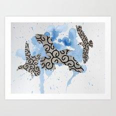 Mixed gulls Art Print