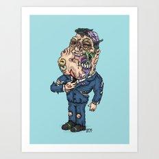 American Zombie Art Print