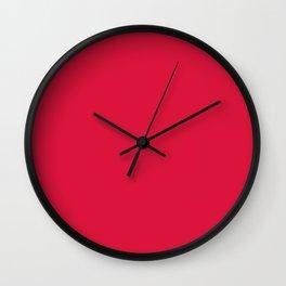 Crimson Red Wall Clock