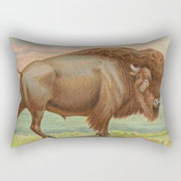 Vintage Illustration of a Buffalo (1890) Rectangular Pillow