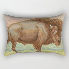 Vintage Illustration of a Buffalo (1890) Rectangular Pillow