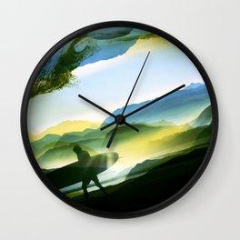 Sunny Surf Wall Clock