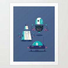 :::Mini Robot-Nanoi::: Art Print